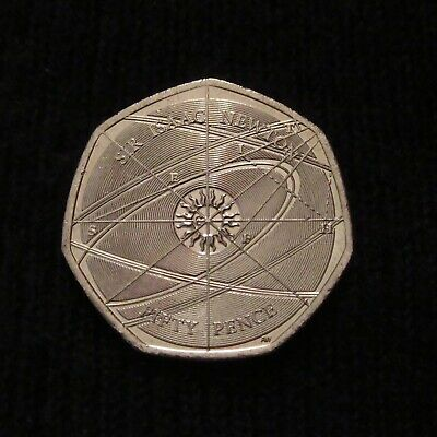 2017 Sir Isaac Newton 50p Coin (Low Mintage)