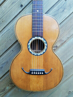 Voll Massive Feine Antike Parlor Gitarre C. 1900 Antique German Parlour Guitar