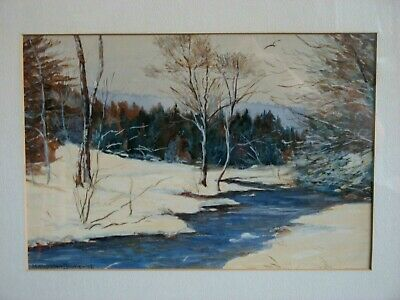 Vintage Original Listed Polish Artist  M Filipkiewicz Framed Watercolor Painting
