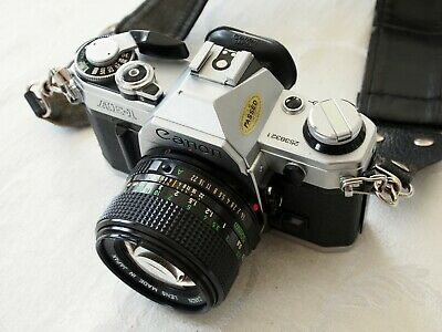 Canon AE-1 35mm SLR Film Camera with FD 50 mm and 80-200 mm lens Kit