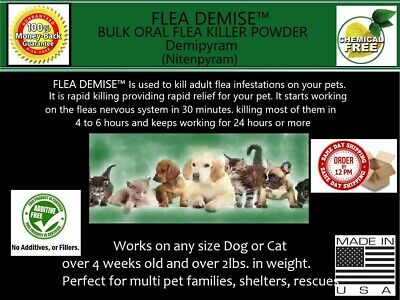 Flea Killer 1083 oral doses Cat Dog 2-12 lbs or 541 Cat Dog 13- 25lbs - any size