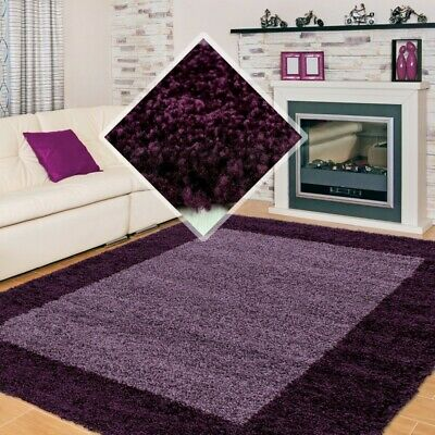 SMALL X EXTRA LARGE THICK 30mm HIGH PILE SOFT NONSHED LIFE SHAGGY RUG-Purple
