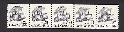 PNC5 20c Cable Car   US 2263, 2263a Lot 2  MNH F-VF