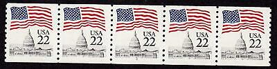PNC5 22c Flag 1 US 2115a MNH, F-VF