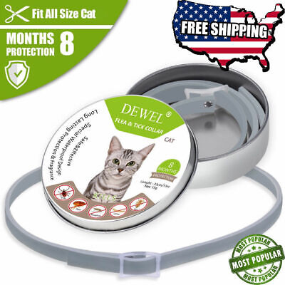 DEWEL 33CM Collar CATS Tick And Flea Treatment 8 Months Protection From USA