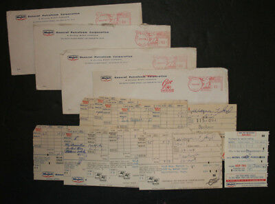 Vintage Mobil Oil 1950s Punched Card Credit Card Receipts Slips