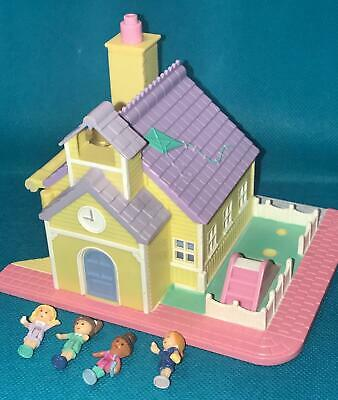 Vintage 1993 Bluebird Polly Pocket Pollyville Giallo Si Accendono Schoolhouse Bambole Fashion