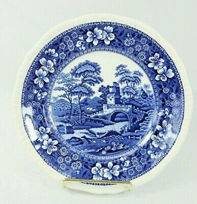 """Copeland Spode Spodes Tower Blue Salad Plate(s) 7 1/2"""" Gadroon Excellent (Lot A)"""