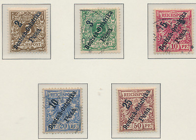 German East Africa Stamps Scott #6 To 10, Mint Hinged/Used