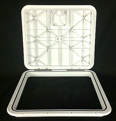 """Innovative Product Solutions 8/"""" x 14/"""" Arctic White Boat Deck Hatch 520-033"""