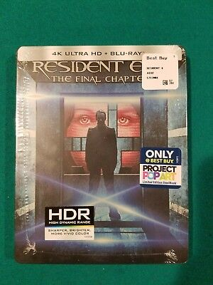 Resident Evil The Final Chapter DVD 4K Ultra HD Blu-ray Limited Steelbook RARE