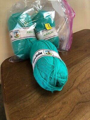 Superwool #100 Brown Gold Teal /& Green Mix 50g Pure Wool