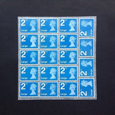 19 2nd Class Large Unfranked Security Stamps Self Adhesive Easy Peel