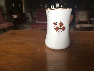 "Antique  Alfred Meakin tea leaf  cup 4 1/2 high 3"" wide  toothbrush holder"