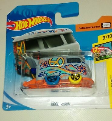 Hot Wheels Vw  Kool Kombi In  Grey  335/365 Hw Art Cars 8/10 Mint On Short Card