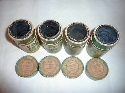 Four Edison 4M Wax Amberol Cylinder Phonograph Records  OBT 545, 555, 379, 802