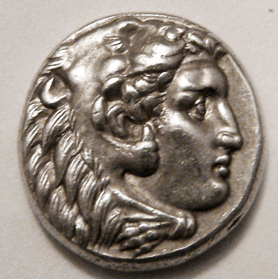 Kingdom of Macedonia, Alexander the Great Ancient Silver Drachm Coin Sardes Mint