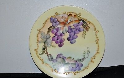 "Vintage Antique 7 1/2"" Grape Plate JPL Limoges"