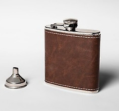 Tourbon Vintage Real Leather  Stainless Flask Steel Pot Hip Flagon Bottle 6 oz