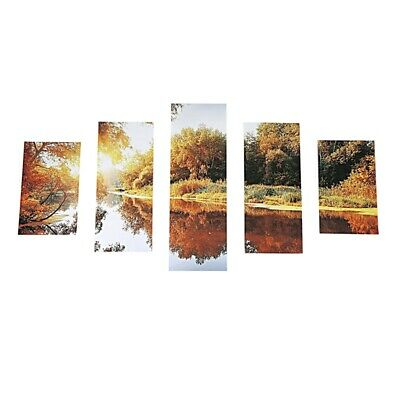 Huge 5 PCS/Set Modern Abstract Spray Oil Painting Canvas Wall Painting Deco K3X9