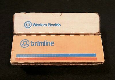 Vintage 1970's Western Electric Trimline Rotary Dial Telephone In Orignal Boxes