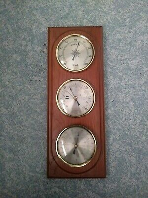 Vintage Wall Hanging Weather Station Made In Germany