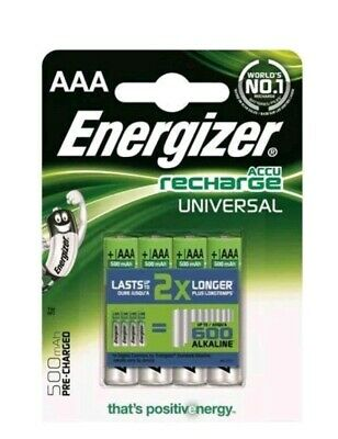 Energizer Rechargeable Universal AAA 500mAh Batteries