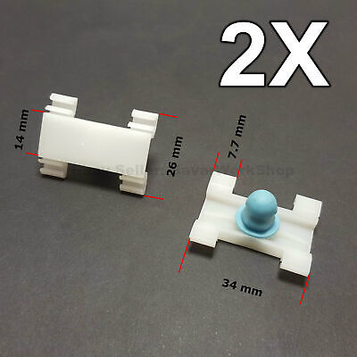 2X Door Fender Moulding Clips Retainers with Rubber Caps for BMW E39, E39, FIAT