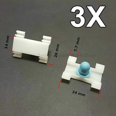 3X Door Fender Moulding Clips Retainers with Rubber Caps for BMW E39, E39, FIAT