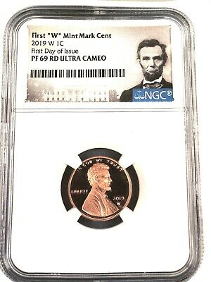 """2019- W Lincoln First """"west Point"""" Cent """"first Day Of Issue""""  Ngc Pf69 Red U.c."""