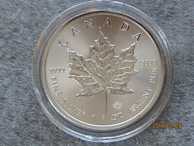 2018 Silver Maple Leaf Canada 1 oz Coin .9999  Here in STOCK