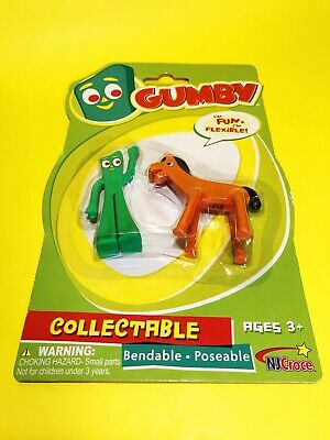 Gumby & Pokey Mini Bendable & Poseable 2 Piece Action Figure Set by NJCroce F2