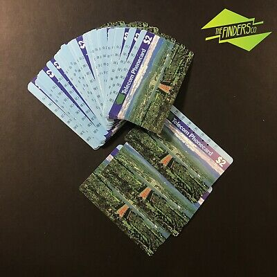 50x USED TELECOM $2 CANBERRA NATIONAL CAPITAL PHONECARDS ASSORTED NUMBERS