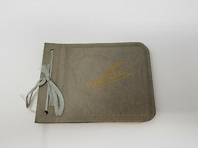 Vintage Antique 1920s Autograph book with notes and signatures Ephmera Collector