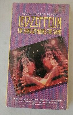 Led Zeppelin New Sealed Vhs The Song Remains The Same