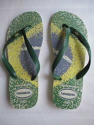 d50137032 Men s New Havaianas Brasil Flag Representation Flip Flops Size Men Usa 8    Women