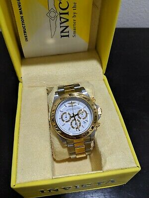 Invicta  Speedway 9212 Wrist Watch for Men Two Tone Silver Gold