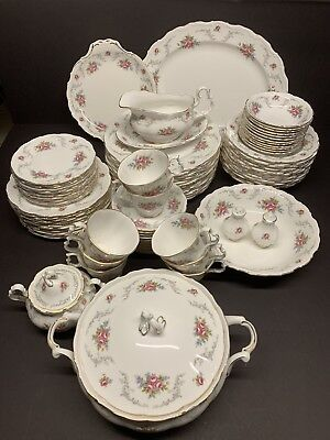 Vintage Royal Albert Bone China Tranquillity  Service Set Of 86 Pieces Rare