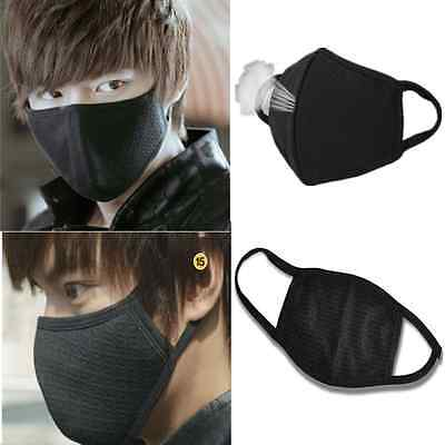 2pcs Women Men Cycling Anti-Dust Cotton Mouth Face Black Mask Respirator