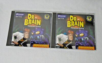 DR BRAIN THINKING GAMES * IQ Adventures PC Game - CD-Rom - Set of 2