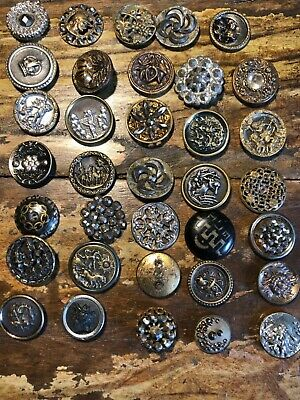 35 antique shankless buttons, circa 1880's (10)