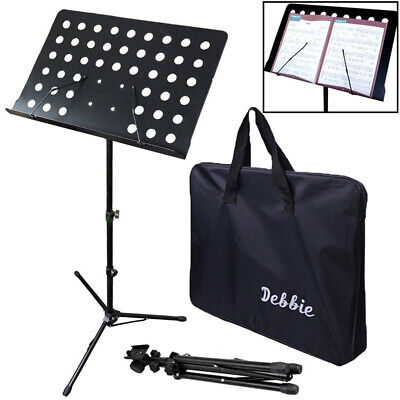 Professional Adjustable Folding Music Metal Sheet Stand Tripod w/ Carry Bag Hot