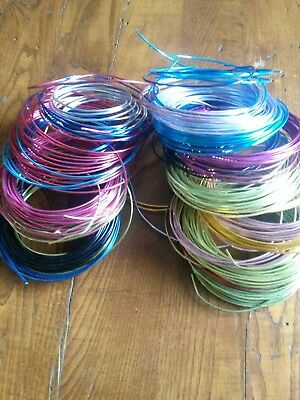 Oasis Floral Aluminum Wire Crafter Lot 23 NIB 11 loose 12gauge x 39' floral wire