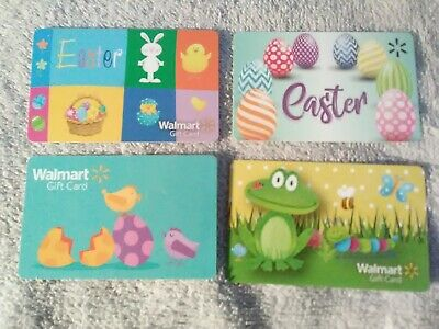 Walmart EASTER Collectible Gift Cards Lot Of 4,  No Money On Cards!