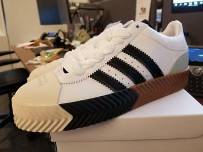 adidas Originals by Alexander Wang Skate Super 11.5 NIB DS White Leather  F35295 05e64147c