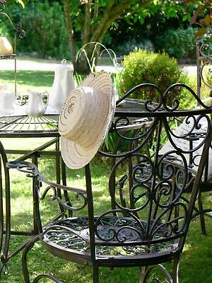 FRENCH garden ARM CHAIR WROUGHT IRON antique BEAUTIFUL QUALITY NEW 14 kg