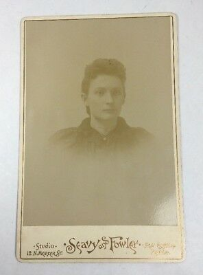 Elizabeth Wallace Brewster Woman Id'd New Castle, PA Sepia Cabinet Photo Card