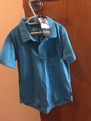 Brand New With Tags Bonds Boys Blue Summer Polo Top Size 6