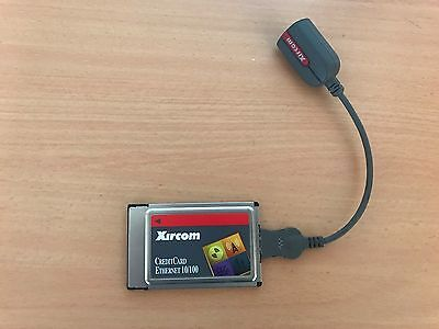 Xircom PCMCIA Credit Card Adaptor with LAN Dongle