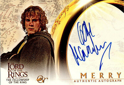 The Lord of the Rings - Fellowship - Autograph Card - Dominic Monaghan - RARE
